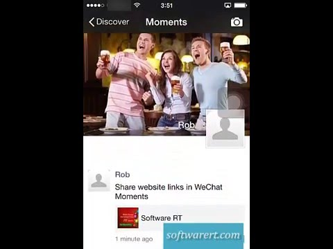Share site links in WeChat Moments on iPhone