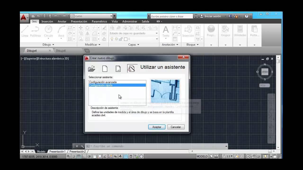 Tutorial autocad 2014 1 crear un archivo nuevo youtube for Archivos de cad