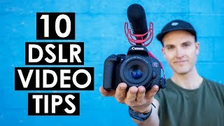 Video 10 DSLR Video Shooting Tips — Canon T7i Tutorial download MP3, 3GP, MP4, WEBM, AVI, FLV Maret 2018