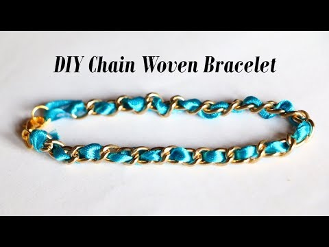 DIY | Easy | Trendy | Chain Woven Bracelet