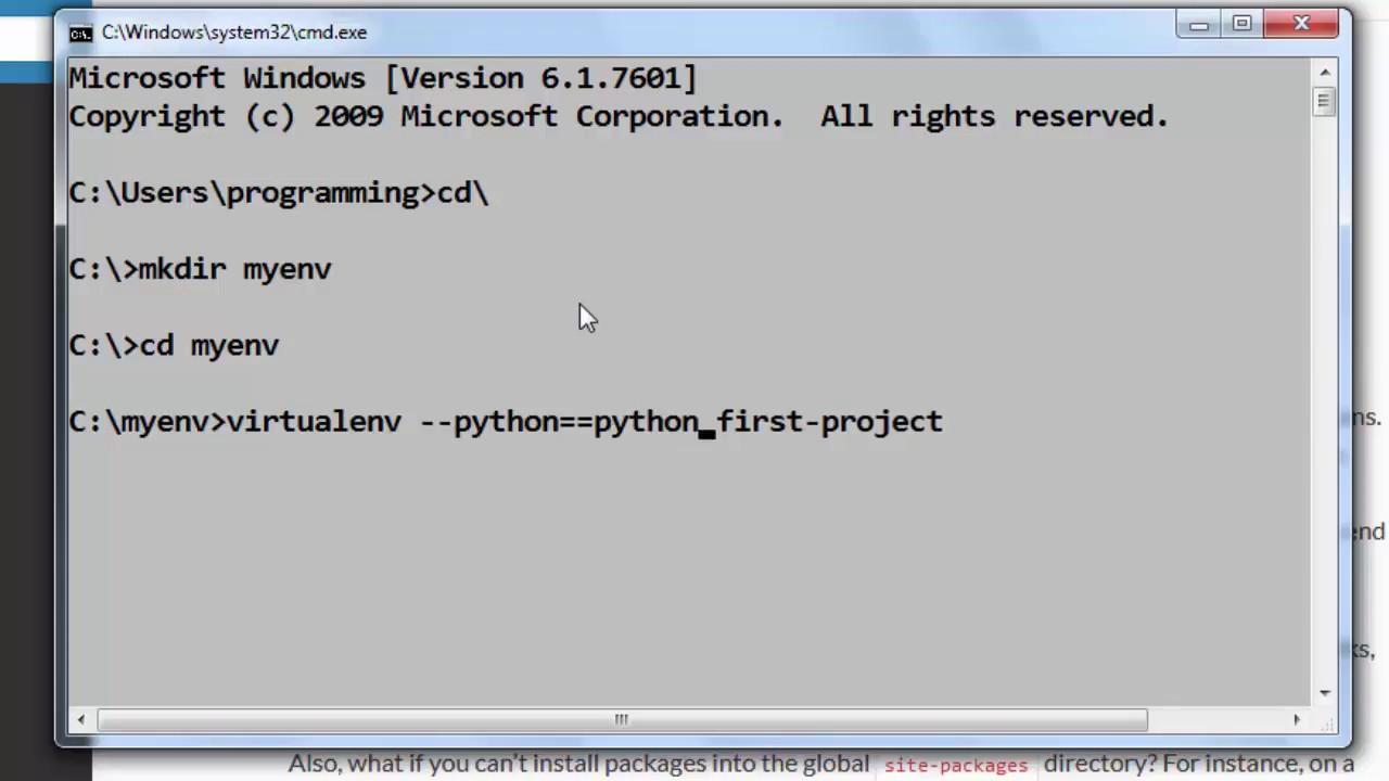 python virtualenv windows deactivate
