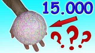 Что случилось с Гигантским ПОПРЫГУНЧИКОМ из 15.000 резинок???