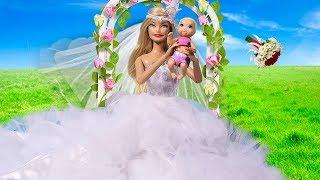 НЕВЕСТА С РЕБЕНКОМ Играем в куклы Мама Барби