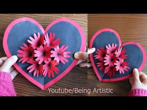 DIY Flower Pop up Card -Paper Crafts-Handmade Craft