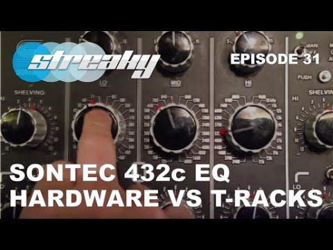 Hardware Sontec 432c EQ vs T-Racks 432 eq mastering plugins - Видео