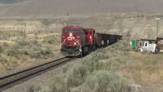 CP Rail -- CP 9812 East near Ashcroft, BC