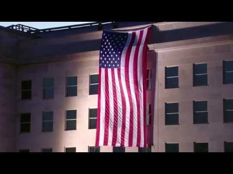 9/11 Anniversary: Unfurling the flag at the Pentagon