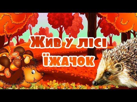 Жив у лісі їжачок. Мультики українською мовою для дітей.