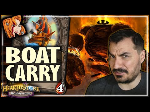 THE BOAT CARRIED THIS BUILD WTF?! - Hearthstone Battlegrounds