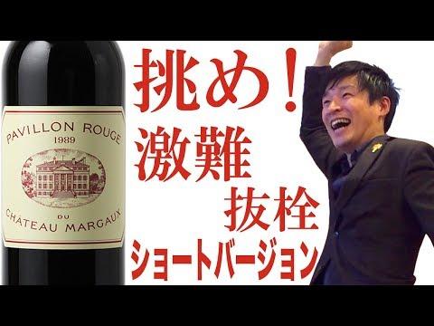 【ショートver】Dr.ソムリン どんなワインでも開けます! 依頼主:映画監督 本広克行 氏  パヴィヨン・ルージュ・デュ・シャトー・マルゴー 1989年