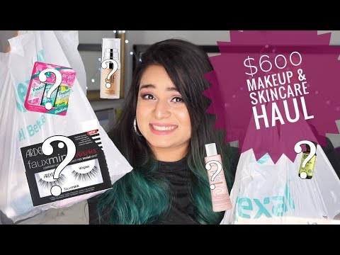 I Spent $600 On Drugstore Makeup And Skincare! * HUGE HAUL * Rexall , Shoppers Drug Mart , Walmart