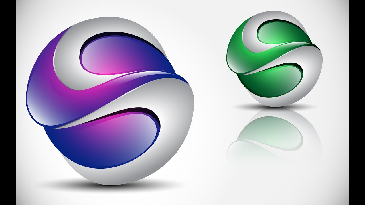 How To Create 3d Logo Design In Adobe Illustrator Cs5 Hd