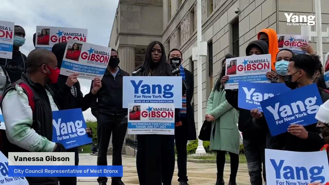 Andrew Yang Receives Vanessa Gibson Endorsement