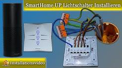 SmartHome Unterputz Lichtschalter Installieren Anleitung / Amazon Echo