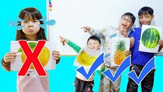 Hunter Kids Go To School Learn Colors Fruits Vegetables coloring  | Classroom Funny Nursery Rhymes