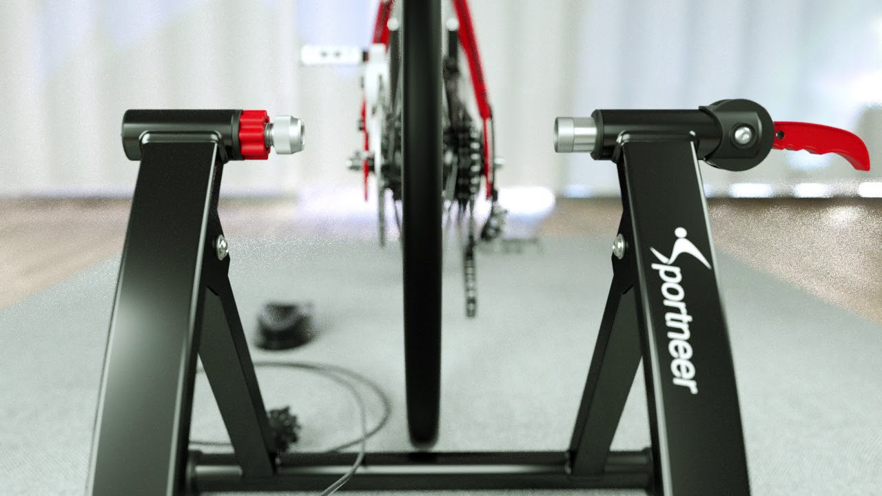 Indoor Bike Bicycle Trainer Exercise Stand with Remote Resistance Setting
