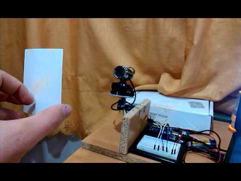Face detection with opencv and tracking with arduino