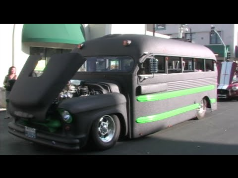 Epic Hot Rod School Bus With A 1000 Horsepower Engine! 1955 Chevy Superior Pro Street School Bus