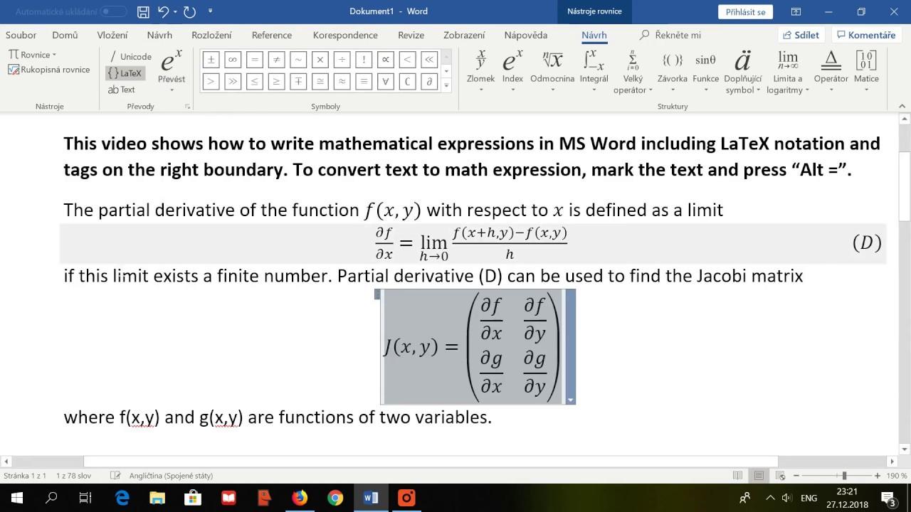 how to write equations with tags in ms word  youtube