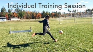 How a Pro Footballer/Soccer Player Trains Alone