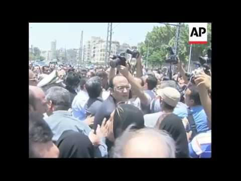 The funeral of Ashraf Marwan, Nasser's son-in-law