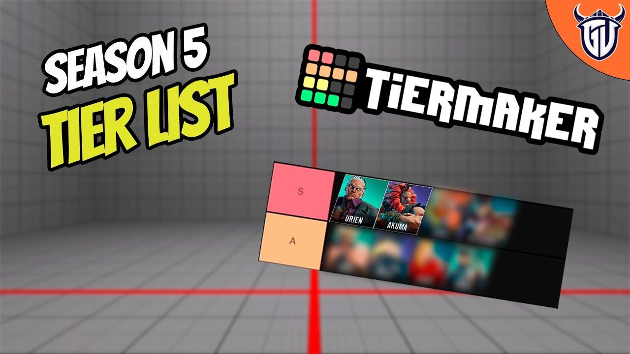 Street Fighter 5 Season 5 Character Tier List Youtube