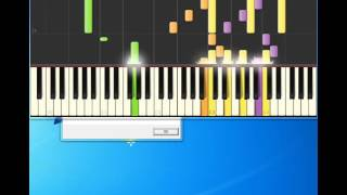 smoke gets in your eyes the patters [Piano tutorial by Synthesia]