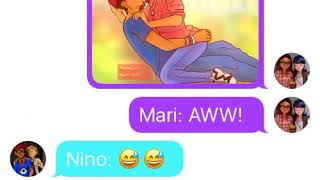 Miraculous ladybug- Adrian and marrinette kiss?! Miraculous texting story