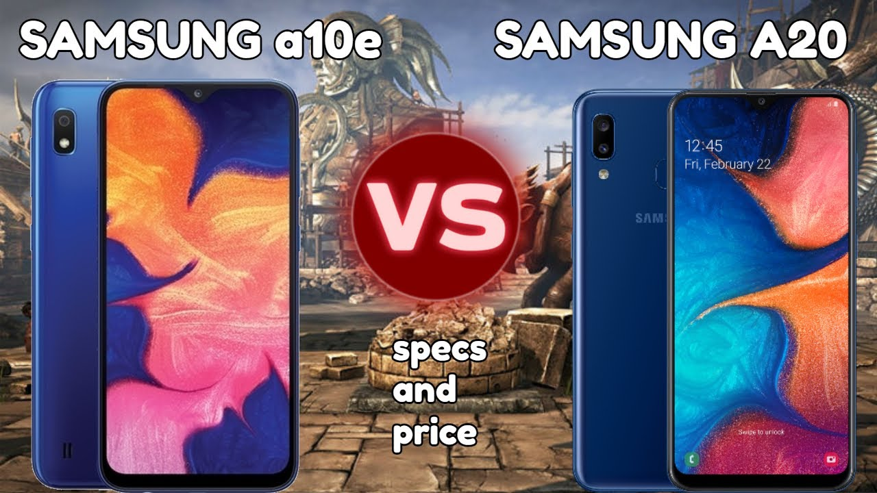 Samsung Galaxy A10e Vs Galaxy A20 Specs Comparison 15