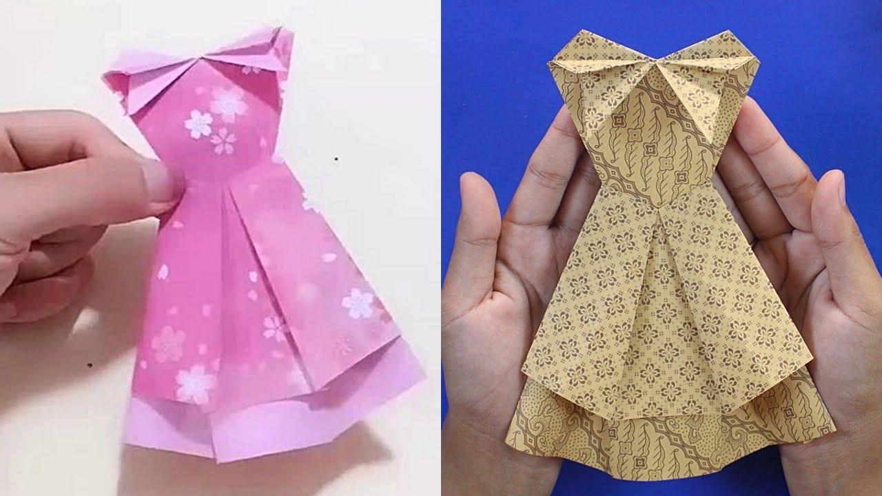 DIY Tutorial Origami Baju Pengantin/ Pesta Terbaru