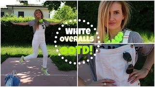 White Overalls & All Star Neon Converse // OOTD