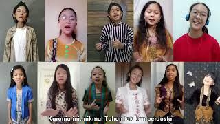Lukisan Indonesia (Naura) Kolaborasi Anak Nusantara - Virtual Choir