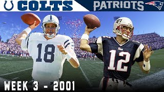 Tom Brady's FIRST Start! (Colts vs. Patriots, 2001)