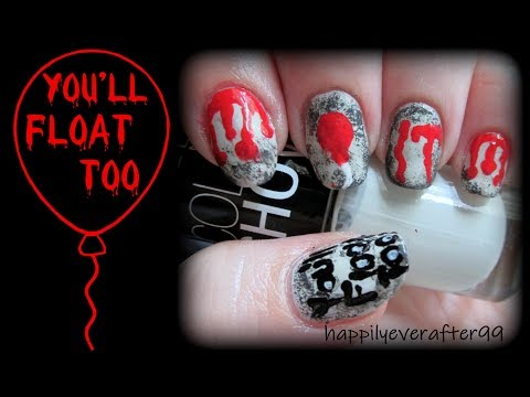 IT -You'll Float Too!!-  Nail Art Tutorial thumbnail