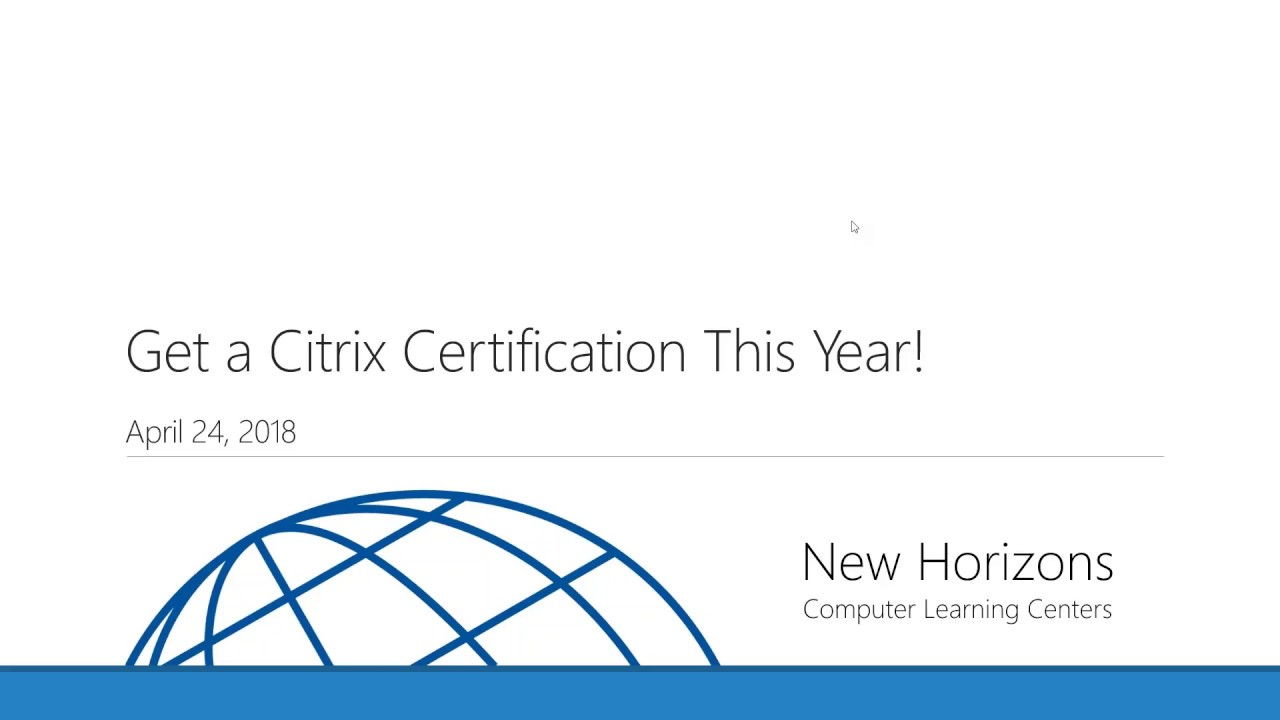 Understanding Citrix Certification Youtube