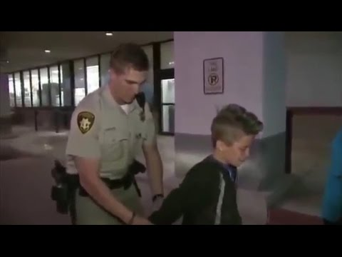 Kid Actually Gets Arrested(BROKEN WINDOW)