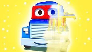 Carl el Super Camión es un Camaleón en Auto City !!   Dibujos animados para niños