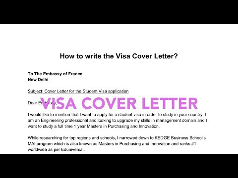 How To Write A Visa Cover Letter? (Student Long Stay)