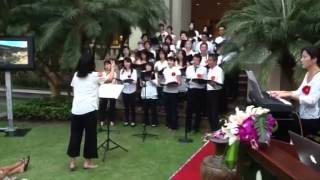A Japanese charity performance in front of intercontinental hotel, ...