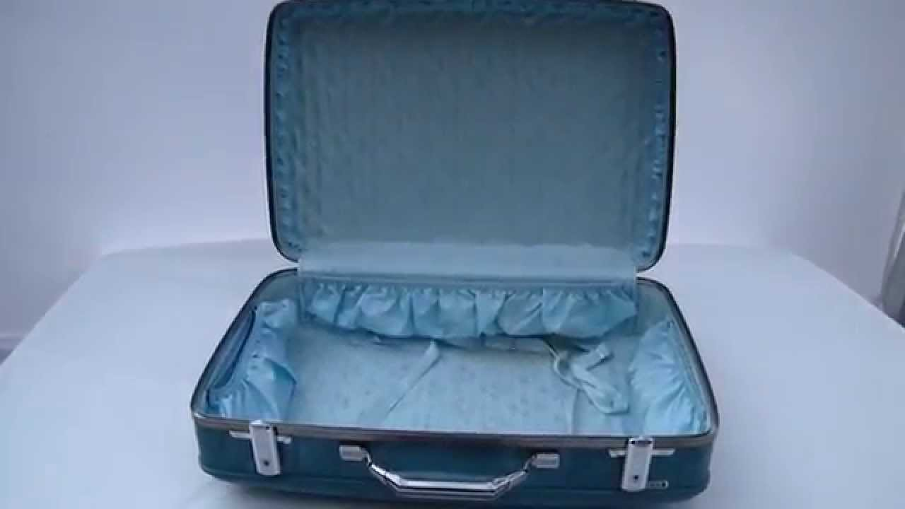 Vintage Retro BLUE AMERICAN TOURISTER Hard Shell Luggage 60's ...