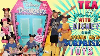 BEST EVER Stuffed Animal Tea Party with Disney Doorables Surprise Toys