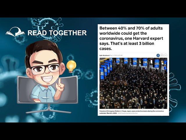 ประชากรโลก 70% จะติด Coronavirus 🦠 หรือไม่? - Read Together - www.PrinEnglish.com