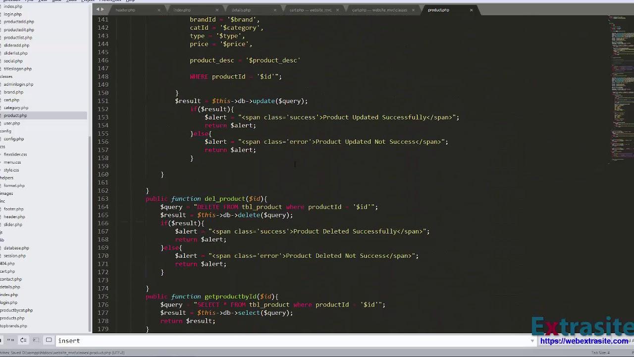 Bài 26 :Lập trình Website PHP mô hình MVC - Cập nhật giỏ hàng