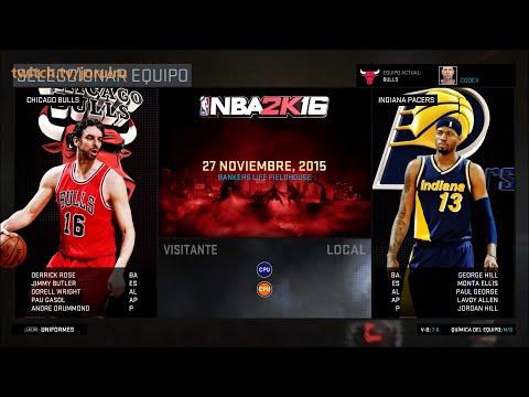NBA 2K16 | Chicago Bulls Season | Match #14 | Pacers vs Bulls | PC