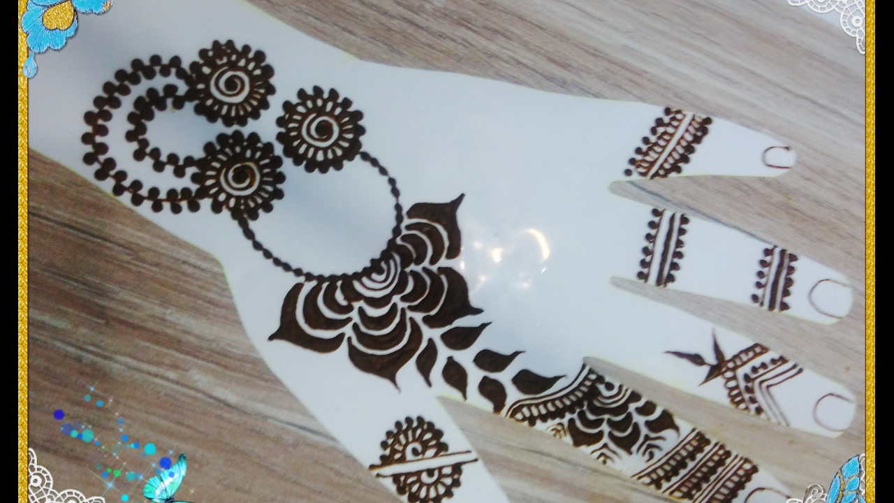 Beautiful Mehndi Design Tutorial : Easy and beautiful gulf henna design tutorial jewelry