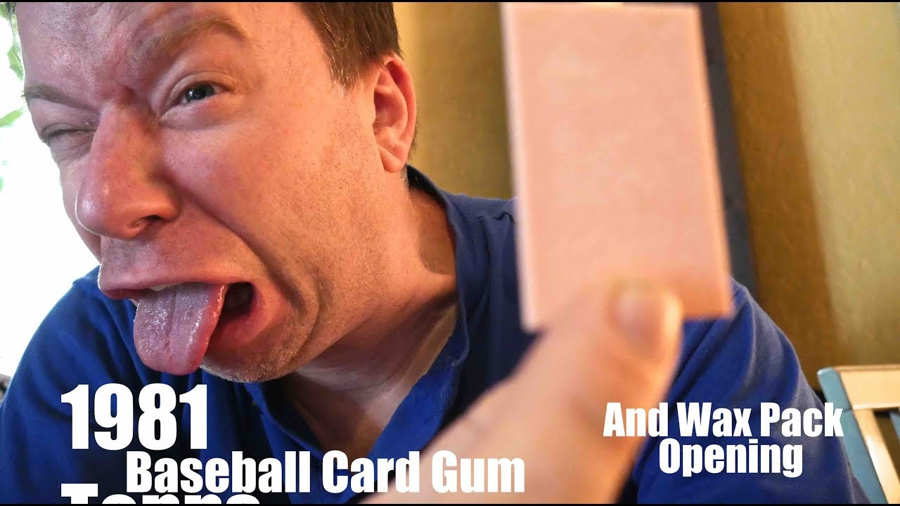 Chewing 1981 Topps Baseball Card Gum And Wax Pack Opening