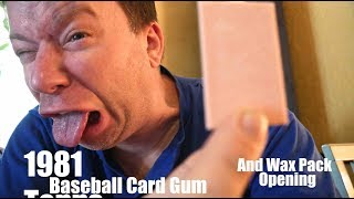 Chewing 1981 Topps Baseball Card Gum- and Wax Pack Opening...