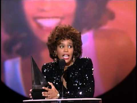 Whitney Houston Wins Favorite Pop:Rock Female - AMA 1989