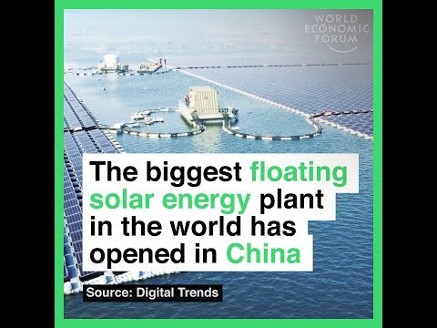 The biggest floating solar energy plant in the world has opened in China