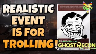 YOU CAN TROLL YOUR TEAM IN THIS MODE - Ghost Recon Wildlands   Realistic Event
